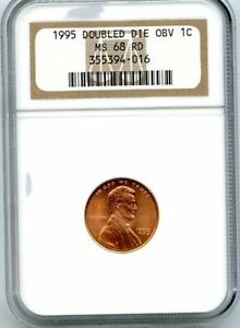 C10720  1995 DDO LINCOLN MEMORIAL CENT NGC MS68 RD