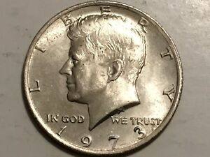 1973 P KENNEDY HALF DOLLAR REVERSE DOUBLING STATES OF AMERICA ERROR COIN