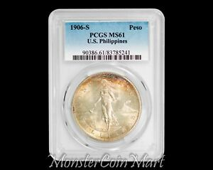 Click now to see the BUY IT NOW Price! 1906 S PESO PCGS MS61   UNITED STATES PHILIPPINES / USPI   SUPER RARITY