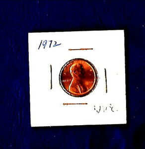 1972 LINCOLN CENT  UNCIRCULATED  EXCELLENT