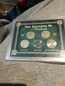 UNITED STATES 5 COIN TWO CENTURIES OF NICKELS COIN COLLECTION