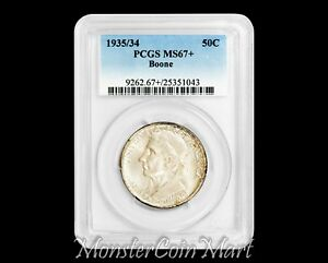 Click now to see the BUY IT NOW Price! 1935/34 50C SILVER COMMEMORATIVE BOONE PCGS MS67    ONLY 4 GRADED HIGHER