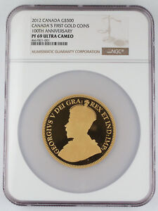 Click now to see the BUY IT NOW Price! 2012 CANADA $500 5 OZ GOLD PROOF COIN 100TH ANNIVERSARY FIRST GOLD COIN NGC PF69