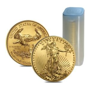 Click now to see the BUY IT NOW Price! ROLL OF 40   2019 1/4 OZ GOLD AMERICAN EAGLE $10 COIN BU  LOT TUBE OF 40
