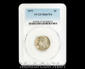 Click now to see the BUY IT NOW Price! 1977 JEFFERSON NICKEL PCGS MS67 FULL STEP   POP 1/0  NONE GRADED HIGHER