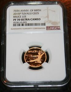 Click now to see the BUY IT NOW Price! 2015 BRUCE LEE TUVALU $25 GOLD COIN NGC PF70 ULTRA CAMEO  1000 PIECES