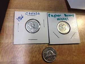 1966 1967 1968 CANADA NICKELS 5 CENTS 3 DIFFERENT DATES  CANADIAN