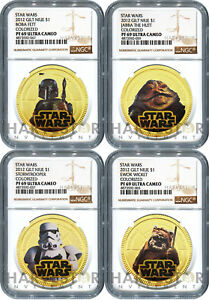 Click now to see the BUY IT NOW Price! 2012 STAR WARS: GILT 4 COIN SET   NGC PF69 ULTRA CAMEO   NIUE   ONLY 4 SET EXIST