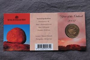 2002 $1 YEAR OF THE OUTBACK COIN CARDED