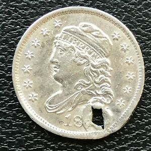 NO DATE CAPPED BUST HALF DIME 5C UNCIRCULATED 13770
