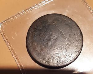 VERY  CLASSIC HEAD 1810/09 LARGE CENT.  R DATE OVERSTRIKE. 208 YRS OLD