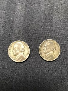 2  1943 JEFFERSON P WAR NICKELS 35 SILVER