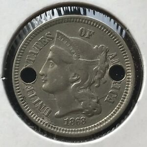 1868 THREE CENT PIECE NICKEL 3C BETTER GRADE 11391