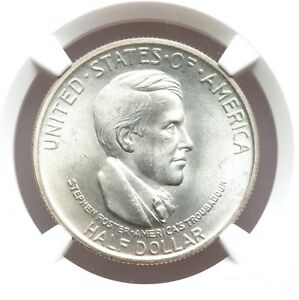 1936 NGC MS64 CINCINNATI COMMEMORATIVE SNOW WHITE LUSTROUS PQ HALF DOLLAR COMMEM