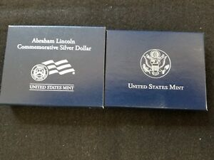 2009 ABRAHAM LINCOLN UNCIRCULATED SILVER DOLLAR IN ORIGINAL MINT PACKAGE & COA