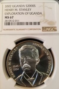 Click now to see the BUY IT NOW Price! 2002 UGANDA SILVER 2000 SHILLINGS EXPLORATION OF UGANDA NGC MS 67 LOW MINTA