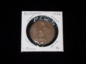 AUSTRALIA 1 PENNY DATED 1936   BRONZE
