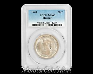 Click now to see the BUY IT NOW Price! 1921 MISSOURI SILVER COMMEMORATIVE HALF DOLLAR PCGS MS66   ONLY 3 GRADED HIGHER