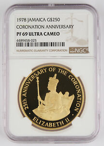 Click now to see the BUY IT NOW Price! JAMAICA 1978 $250 PROOF 1.25 OZ GOLD COIN NGC PF69 UC CORONATION ANNIVERSARY GEM