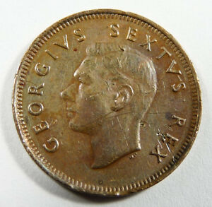 1952 SOUTH AFRICA 1/4 D
