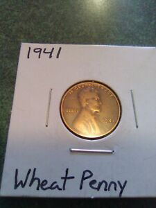 1941 LINCOLN WHEAT PENNY BEAUTIFUL COIN