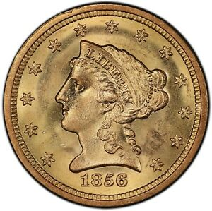 Click now to see the BUY IT NOW Price! 1856 S $2.50 S.S. CENTRAL AMERICA 2  WITH PINCH  PCGS MS66  CAC
