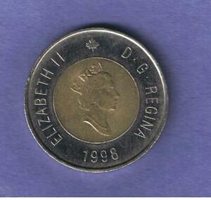 1998 CANADA CANADIAN TOONIE $2 COIN CIRCULATED