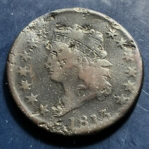 1813 LARGE CENT CLASSIC HEAD ONE CENT 1C BETTER GRADE 9929