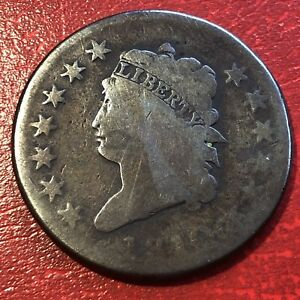 1810 LARGE CENT CLASSIC HEAD ONE CENT 1C CIRCULATED  13645