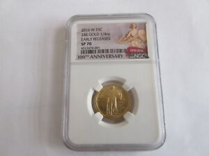 2016 W STANDING LIBERTY QUARTER NGC SP70 EARLY RELEASES 1/4 OZ