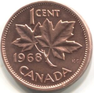 1968 CANADA ONE CENT COIN