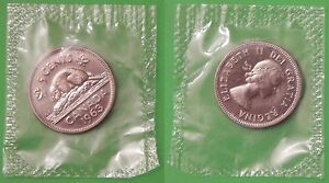 1963 CANADA BEAVER NICKEL SEALED IN CELLOPHANE