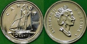 2000 CANADA  W MARK  DIME GRADED AS PROOF LIKE FROM ORIGINAL SET