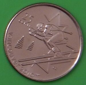 2007 CANADA ALPINE SKIING 25 CENTS WINTER GAMES 2010 SERIES FROM MINT ROLL