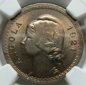 Click now to see the BUY IT NOW Price! ANGOLA PORTUGAL 20 CENTAVOS 1921 NGC MS 64 UNC