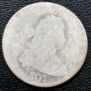 1807 DRAPED BUST QUARTER DOLLAR    EARLY TYPE COIN CIRCULATED 15305