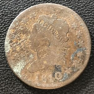 1810 LARGE CENT CLASSIC HEAD ONE CENT 1C 6956