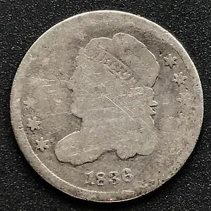 1836 CAPPED BUST HALF DIME 5C NICE COIN 6212