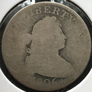1806 DRAPED BUST QUARTER DOLLAR 25C  EARLY TYPE COIN CIRCULATED 11796