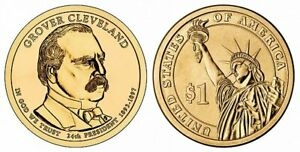 2012 D GROVER CLEVELAND SECOND TERM   PRESIDENTIAL DOLLAR FROM MINT SET