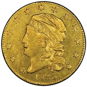 Click now to see the BUY IT NOW Price! 1823 $5 CAPPED BUST HALF EAGLE PCGS AU55