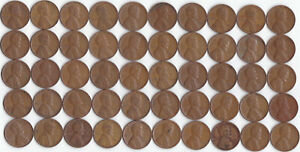 1946 D LINCOLN WHEAT CENT ROLL CIRCULATED