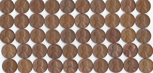 1958 D LINCOLN WHEAT CENT ROLL CIRCULATED