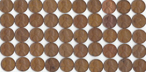 1939 P LINCOLN WHEAT CENT ROLL CIRCULATED