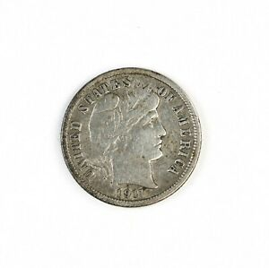 RAW 1911 D BARBER 10C UNCERTIFIED UNGRADED DENVER MINT SILVER DIME COIN