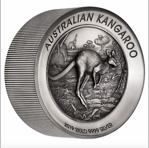 Click now to see the BUY IT NOW Price! 2019 P 2 KILO AUSTRALIA KANGAROO HIGH RELIEF S $60 MS 70 ANTIQUED BY NGC POP1