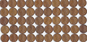 1937 P LINCOLN WHEAT CENT CIRCULATED ROLL
