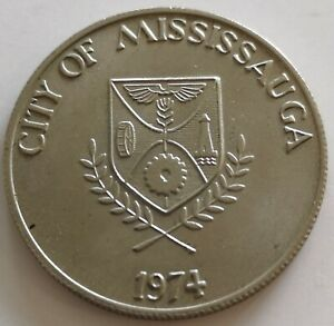 CITY OF MISSISSAUGA     1834 1974 TOKEN COIN
