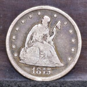 1875 CC TWENTY CENT PIECE   VG  21570