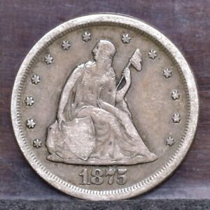 1875 S TWENTY CENT PIECE   VG  21568